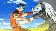 Yuu's GT Robo punching Toriko