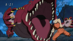 Toriko fighting with Galala Gator
