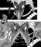 Blue Nitro opens mouth