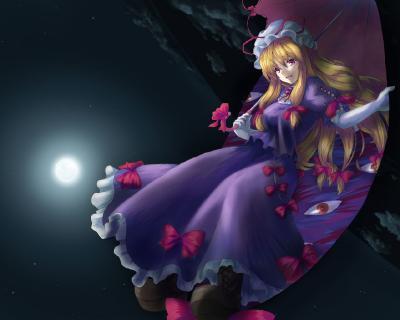 File:Konachan-com-56554-blonde hair-dress-long hair-moon-night-ri.jpg