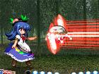 Tenshi focuses scarlet energy through a keystone.