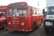 Albion single deck bus reg NSG 869 at Donington 09 - IMG 6144small