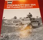 Cockshutt 504 swather b&w brochure