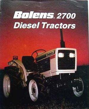 Bolens 2700 diesel tractors brochure