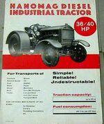 Hanomag 36-40 Industrial b&w ad - 1930