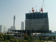 NISSAN New Headquarters Building(Under construction in Apr in 2008)