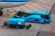 KLM Pushback tractor and ground power unit