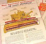 MM SP-168 Harvestor combine brochure - 1946