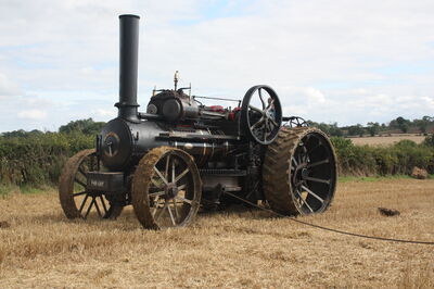 Fowler ploughing engine no 15673