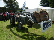 Ferguson tractor with hydraulic loader