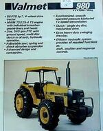 Valmet 980 Viking Turbo MFWD (yellow) - 1985