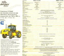 Zanello Pauny P-Trac 160 & 180 4WD brochure pg2