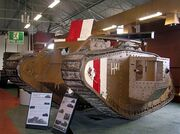WW1 Tank Mark V, Bovington