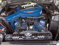 1969 Ford Mustang Mach 1 351 Windsor engine