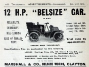19030131Auto- 12hp Belsize car (gracesguide)