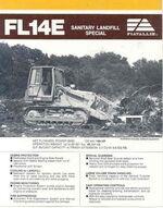 FIATALLIS FL14E crawler brochure - 1988