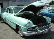 1954 DeSoto green sedan front