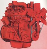 International D166 engine 1960