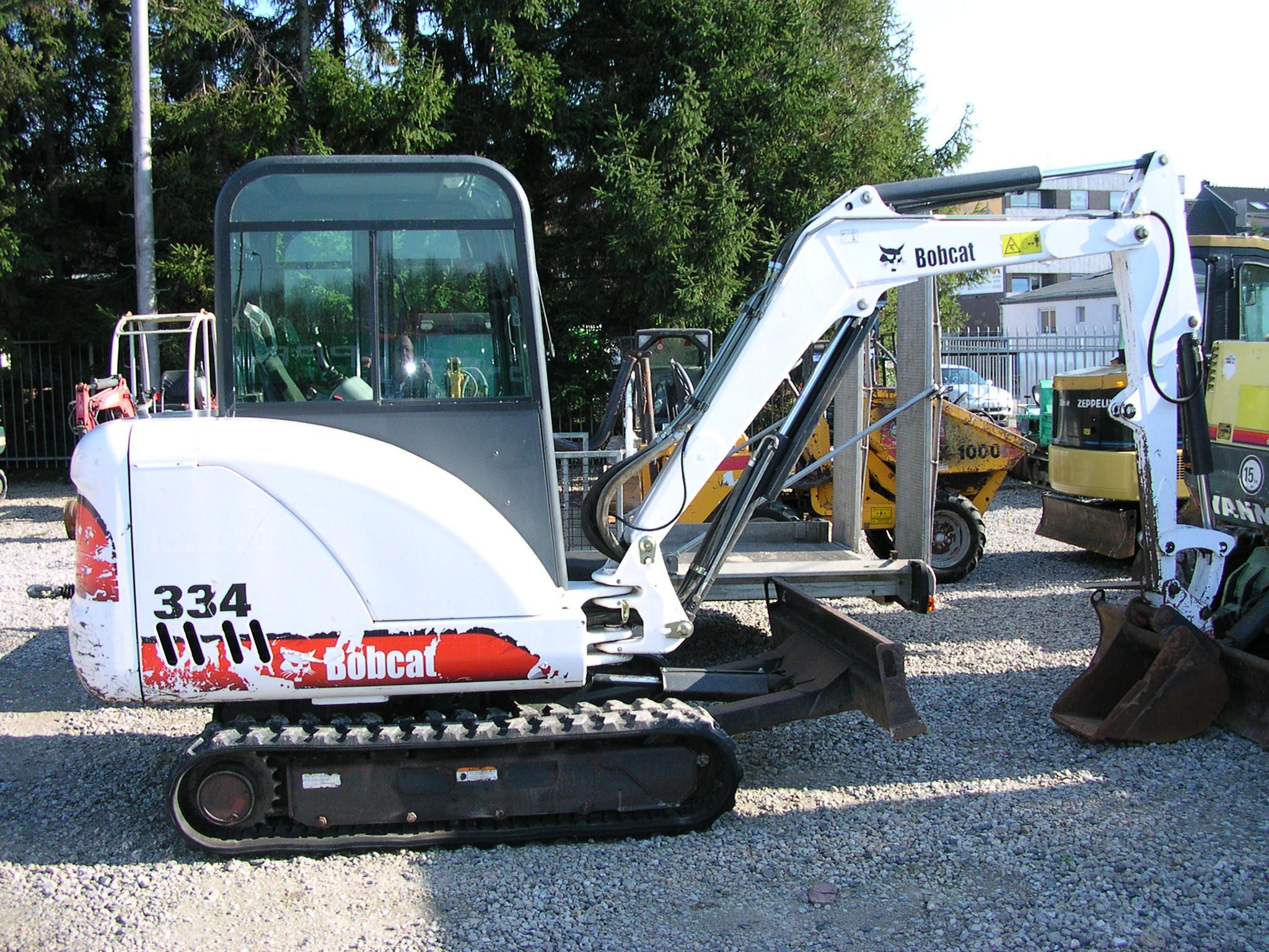 mini excavator tractor construction plant wiki fandom bobcat 334