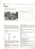 A 1980s BRAY Four 70 4WD Tractor infosheet