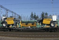 New Sampo Rosenlew SR2035 combines on a train in Helsinki