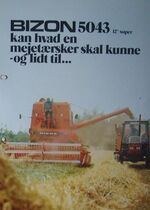 Bizon 5043 combine brochure
