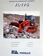 FIATALLIS FL175 crawler brochure - 1995