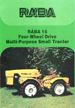 RÁBA 15 MFWD ad - 1993