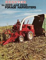 Hesston 4000 forage harvester brochure