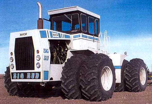 Big Bud Tractor : Big bud bafus blue tractor construction plant