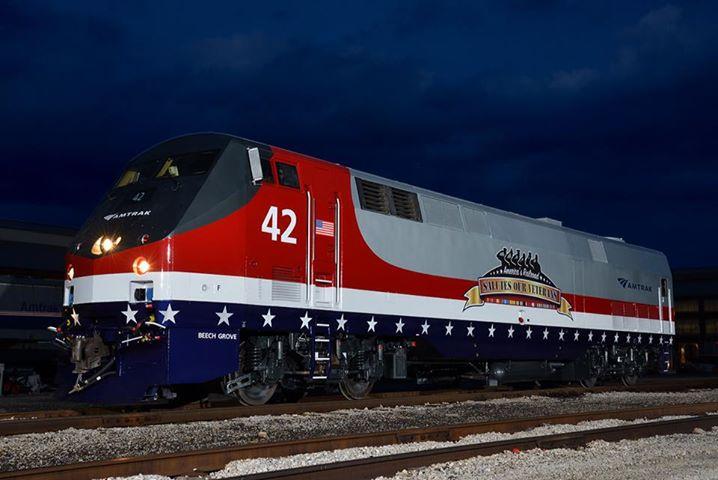 Amtrak 42 - Veterans Locomotive | Amtrak #42 freshly painted… | Flickr