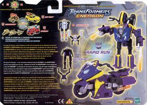 Energon rapidrun cardback