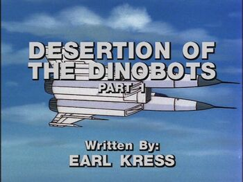 Desertion of the Dinobots 1 title shot