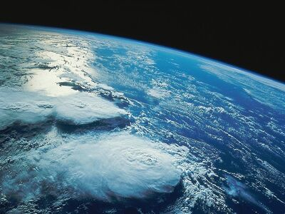 Earth-from-space-clouds