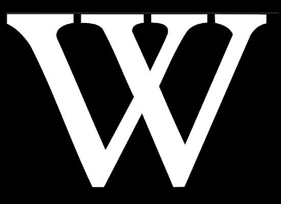 File:Wikipedia W logo black 550x400.png