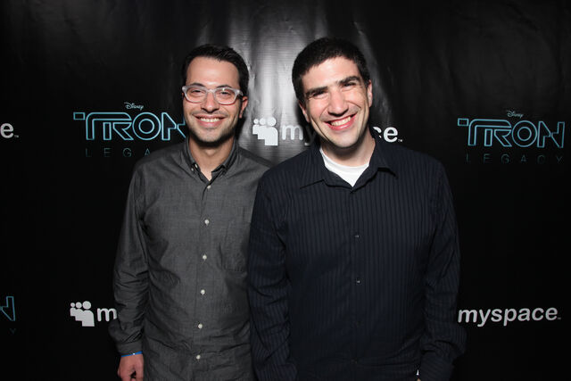 File:Edward Kitsis and Adam Horowitz and the TRON LEGACY and MySpace Party jpg.jpg