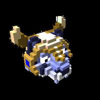 Blue Battle Tiger
