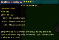Explosive Epilogue