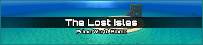 The Lost Isles biome banner