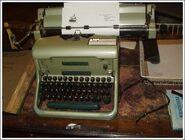 Awdry's typewriter