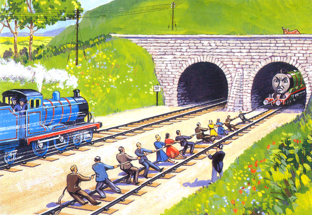 原作第1巻のノース・ウェスタン鉄道の乗客