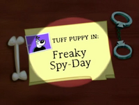 Freaky Spy-Day Title Card