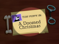 A Doomed Christmas Title Card