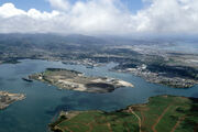 Pearl Harbor Ford Island aerial photo 1986