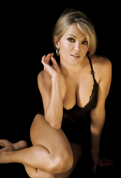 Brandy Ledford showing off cleavage