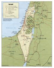Israel map circa 1988