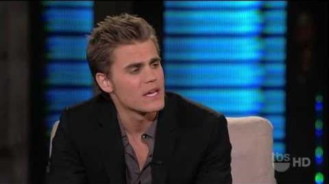 2-14-11 Paul Wesley (The Vampier Diaries) Does First Late Night Interview on Lopez Tonight