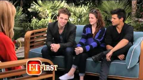 Entertainment Tonight Interview with Taylor Lautner, Kristen Stewart and Robert Pattinson