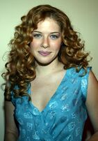 RachelleLefevre blue dress