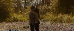 "Bella and Edward in ""their meadow"""